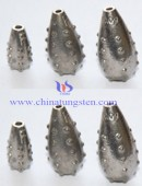 The tungsten alloy thorns water droplets fishing sinker 1.5 oz