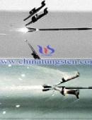Tungsten core penetrator shelling effect -0021