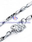 Tungsten steel necklace -0062