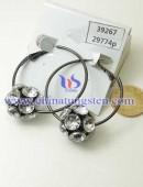 Tungsten steel earrings -0045