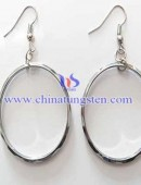 Tungsten steel earrings -0049